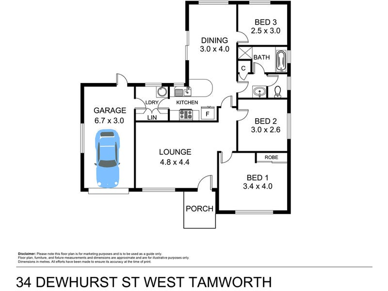 34 Dewhurst Street, Tamworth, NSW 2340 - floorplan