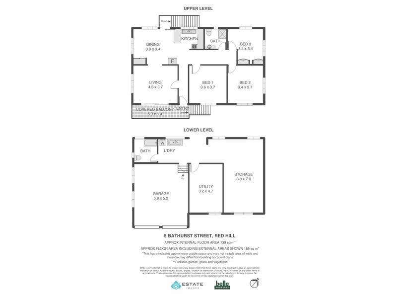 5 Bathurst Street, Red Hill, Qld 4059 - floorplan