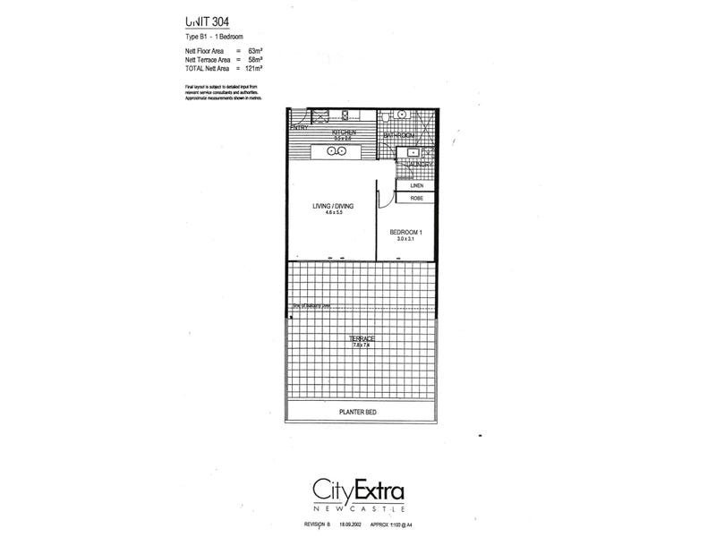 304/24 Bolton Street, Newcastle, NSW 2300 - floorplan