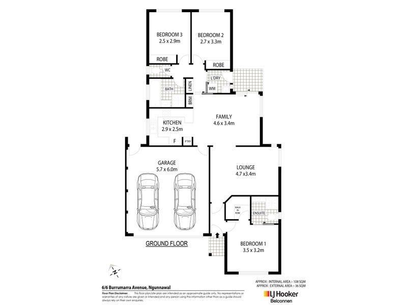 6/6 Burrumarra Avenue, Ngunnawal, ACT 2913 - floorplan