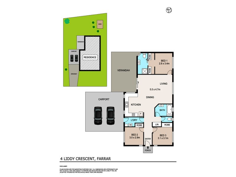 4 Liddy Crescent, Farrar, NT 0830 - floorplan