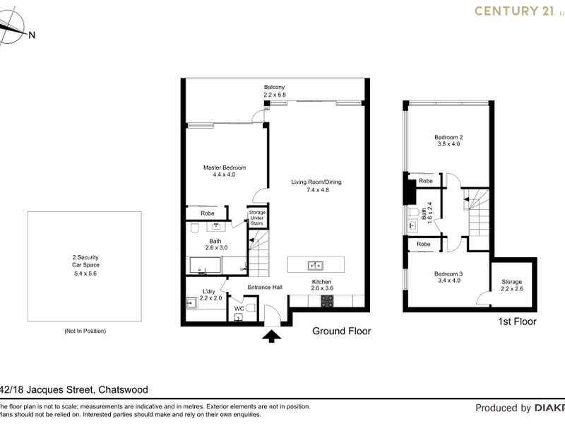 42/18 Jacques Street, Chatswood, NSW 2067 - floorplan