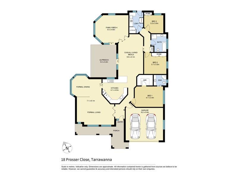 18 Prosser Close, Tarrawanna, NSW 2518 - floorplan
