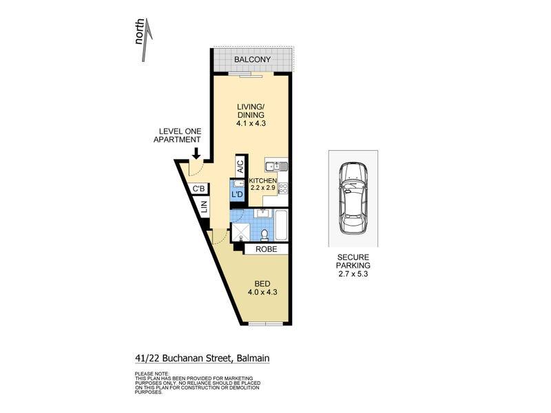 41/22 Buchanan Street, Balmain, NSW 2041 - floorplan