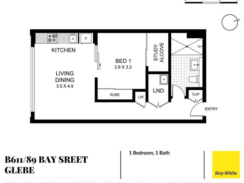 B611/89 Bay Street, Glebe, NSW 2037 - floorplan