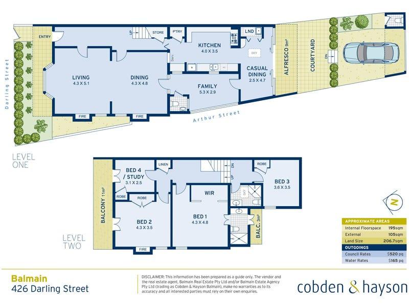 426 Darling Street, Balmain, NSW 2041 - floorplan