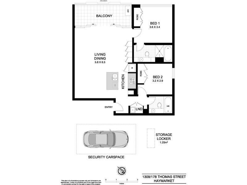 1309/178 Thomas Street, Sydney, NSW 2000 - floorplan