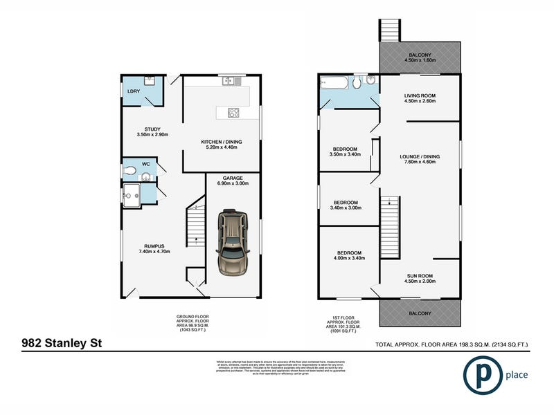 982 Stanley Street East, East Brisbane, Qld 4169 - floorplan