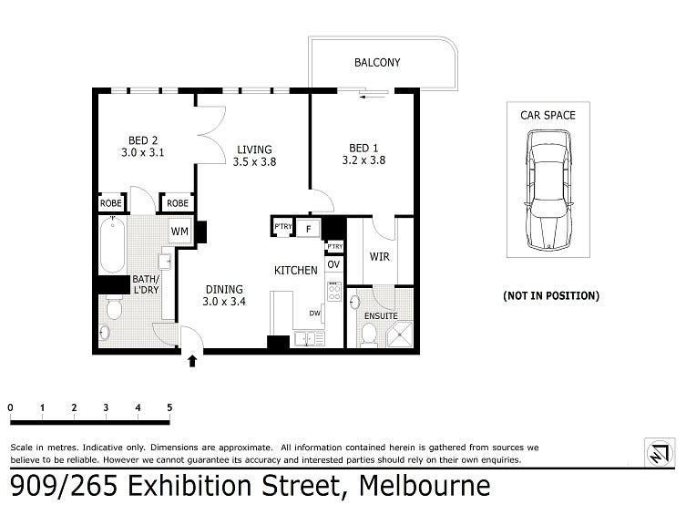 909/265 Exhibition Street, Melbourne, Vic 3000 - floorplan