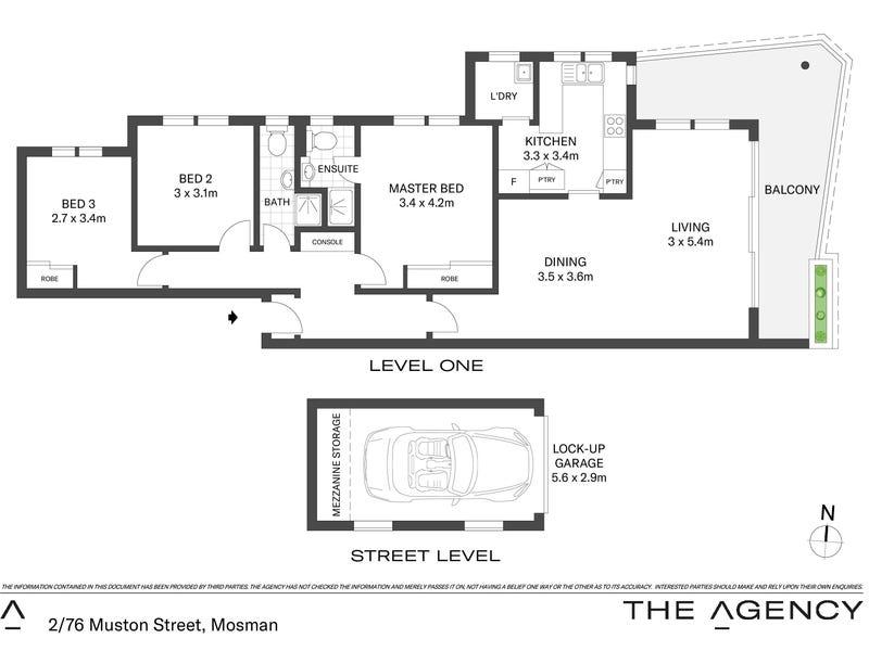 2/76 Muston Street, Mosman, NSW 2088 - floorplan