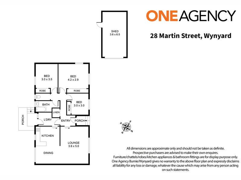 28 Martin Street, Wynyard, Tas 7325 - floorplan