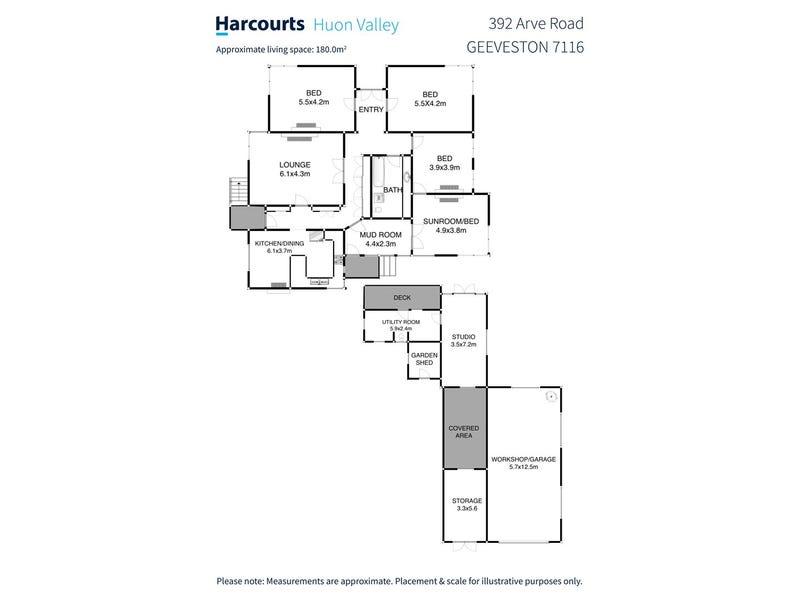 392 Arve Road, Geeveston, Tas 7116 - floorplan