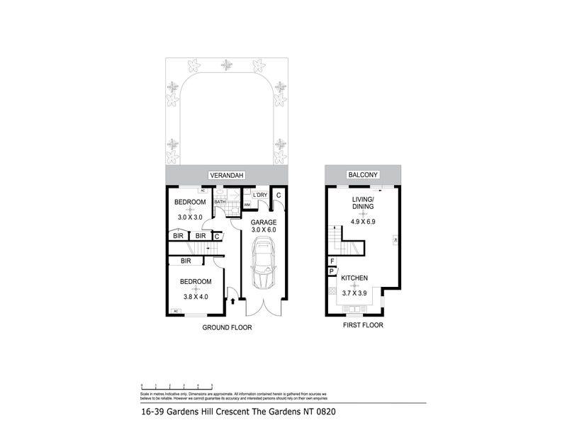 16/29 Gardens Hill Crescent, The Gardens, NT 0820 - floorplan