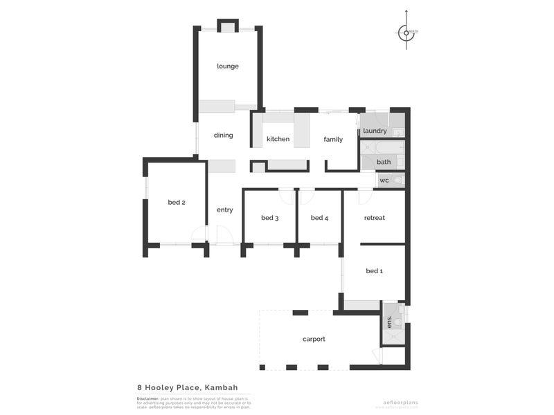 8 Hooley Place, Kambah, ACT 2902 - floorplan