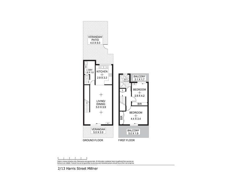 2/13 Harris Street, Millner, NT 0810 - floorplan
