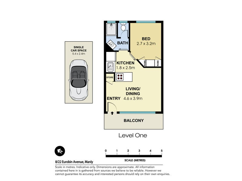 8/22 Eurobin Avenue, Manly, NSW 2095 - floorplan