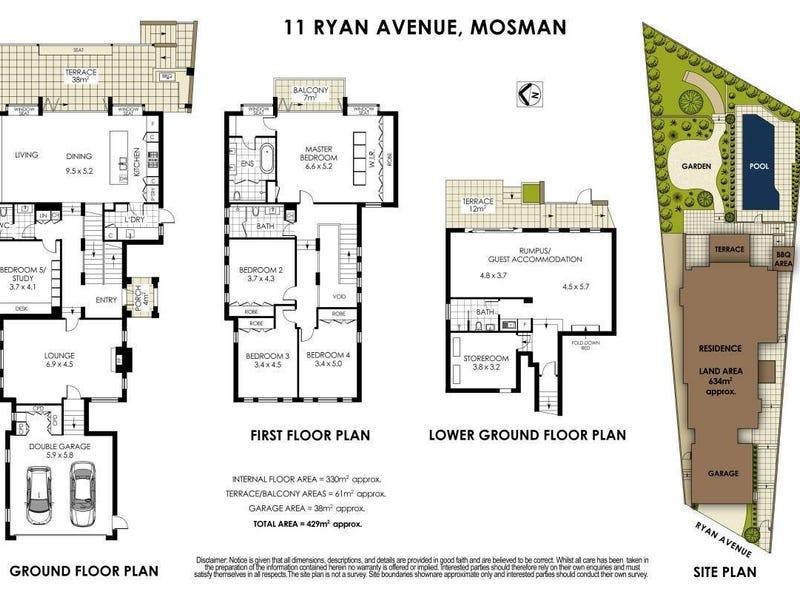 11 Ryan Avenue, Mosman, NSW 2088 - floorplan