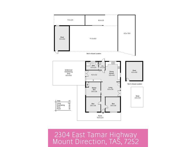 2304 East Tamar Highway, Mount Direction, Tas 7252 - floorplan