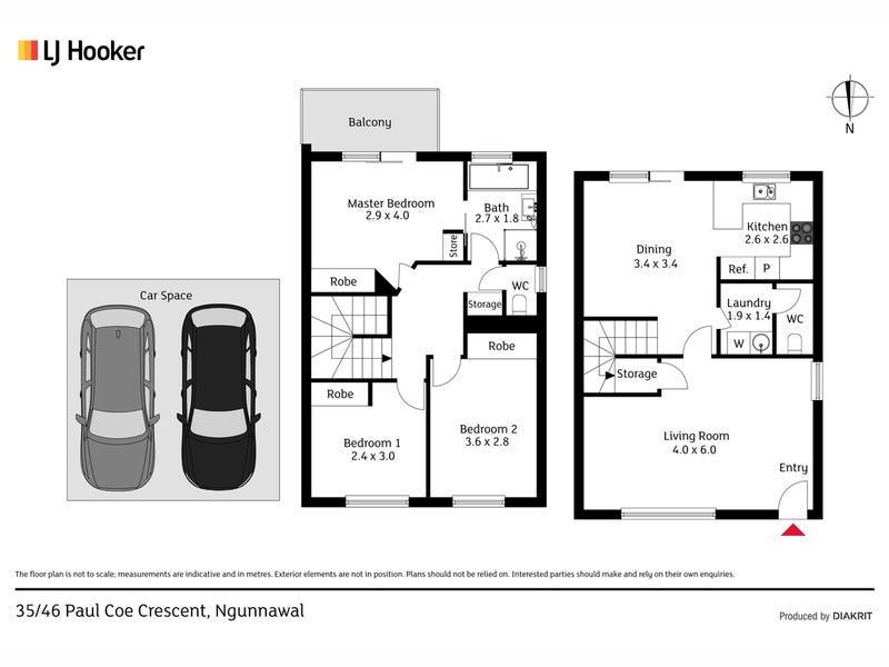 35/46 Paul Coe Crescent, Ngunnawal, ACT 2913 - floorplan