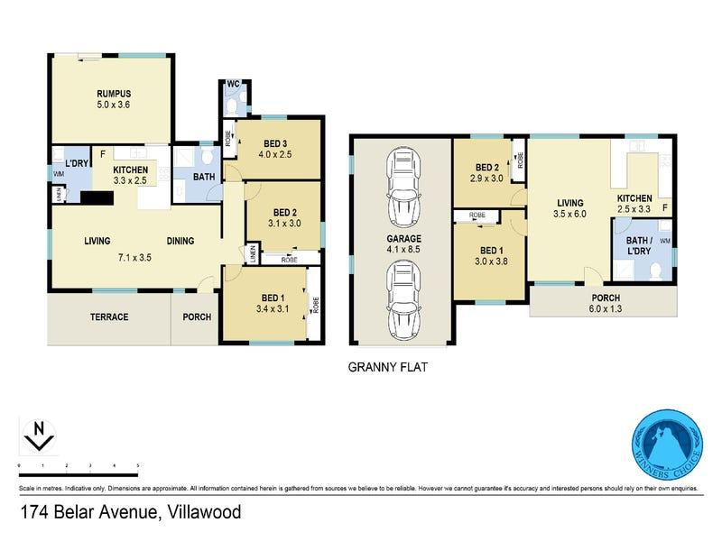174 Belar Ave, Villawood, NSW 2163 - floorplan