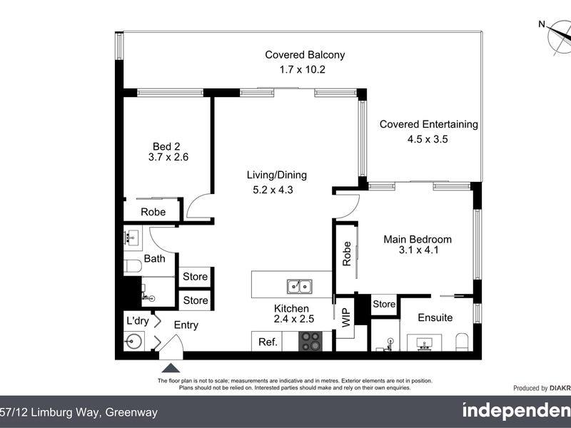257/12 Limburg Way, Greenway, ACT 2900 - floorplan