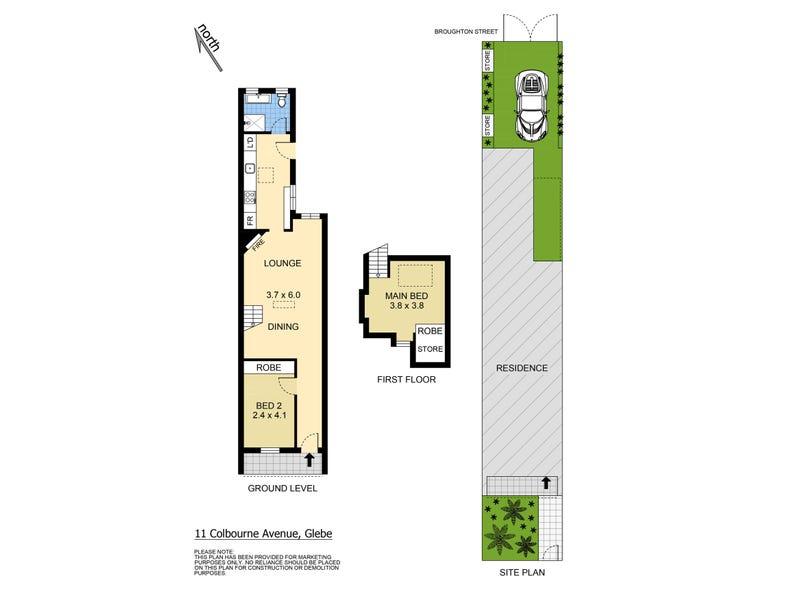11 Colbourne Avenue, Glebe, NSW 2037 - floorplan