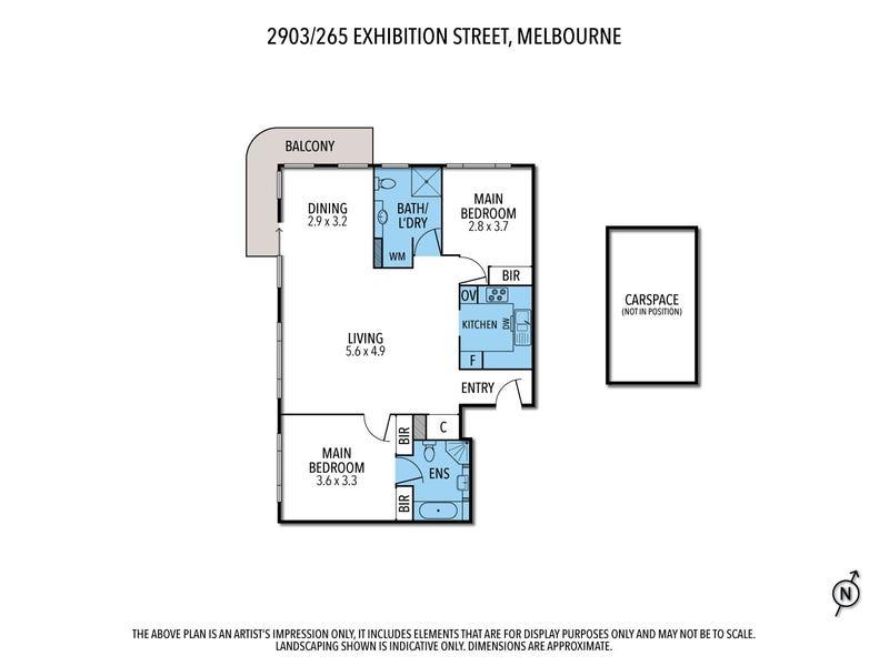 2903/265 Exhibition St, Melbourne, Vic 3000 - floorplan