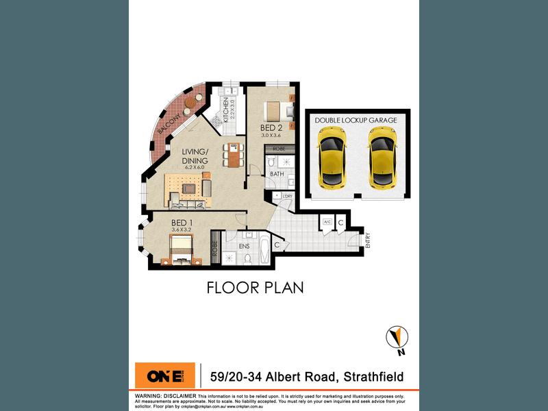 59/20-34 Albert Road, Strathfield, NSW 2135 - floorplan