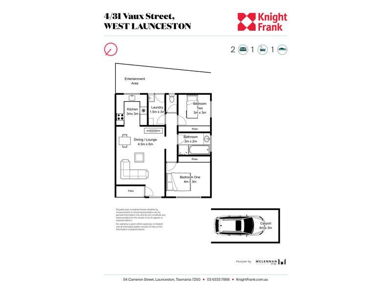 4/31 Vaux Street, West Launceston, Tas 7250 - floorplan