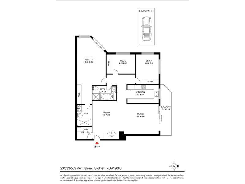 23/533 Kent Street, Sydney, NSW 2000 - floorplan