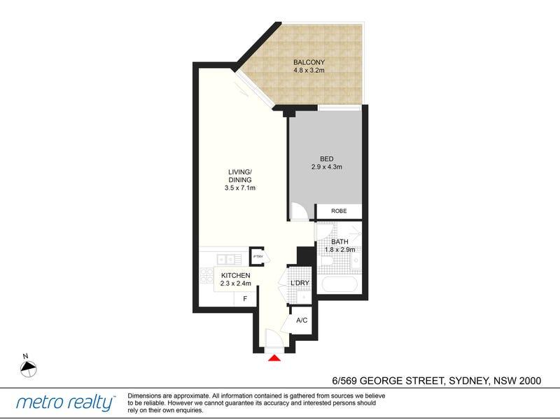 6/569 George Street, Sydney, NSW 2000 - floorplan