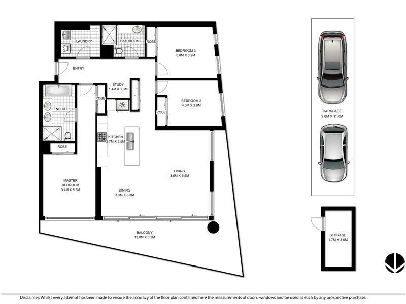 2401/7 Railway St, Chatswood, NSW 2067 - floorplan