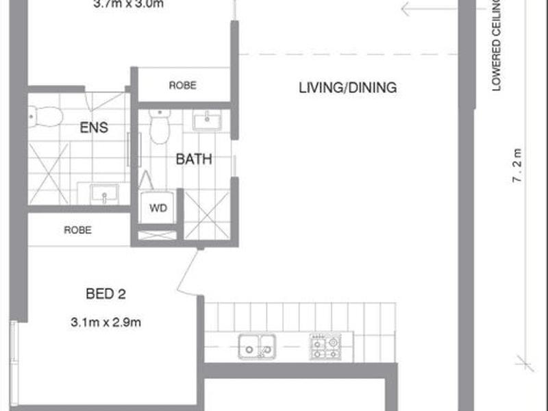 3215/601  Little Lonsdale Street, Melbourne, Vic 3000 - floorplan