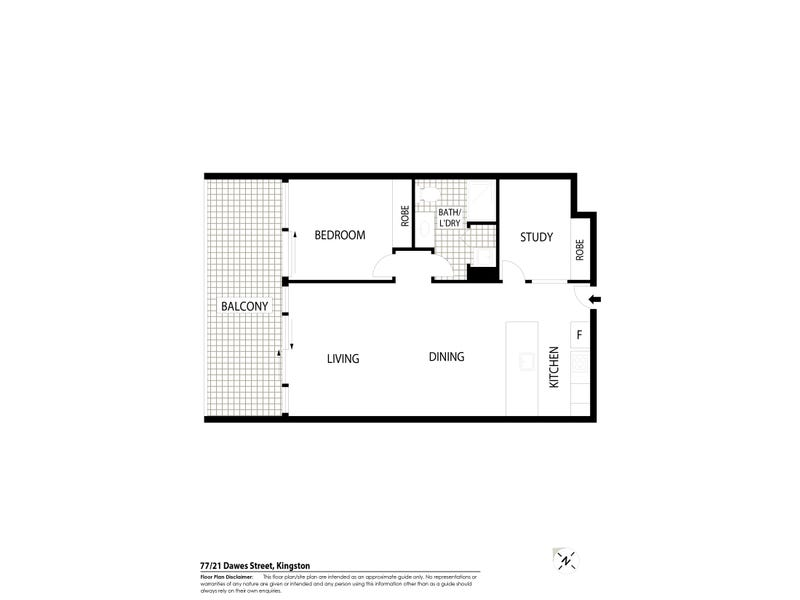 77/21 Dawes Street, Kingston, ACT 2604 - floorplan