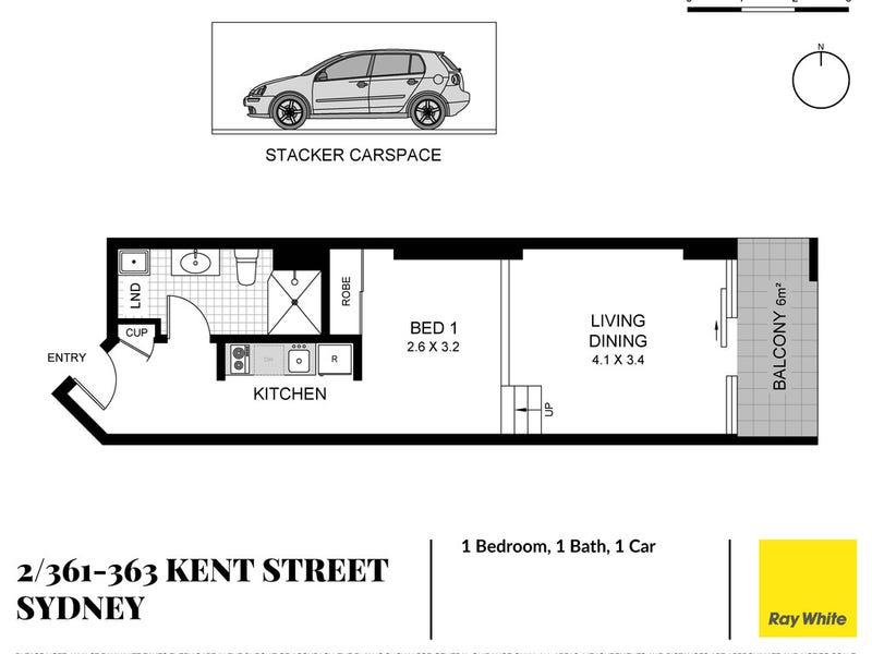 2/361-363 Kent Street, Sydney, NSW 2000 - floorplan