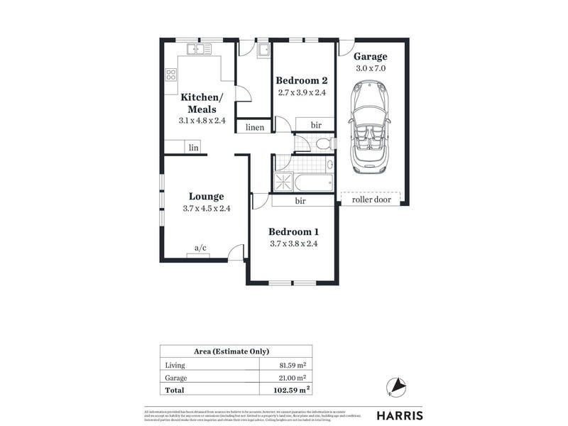 1/41 Alison Avenue, Marion, SA 5043 - floorplan