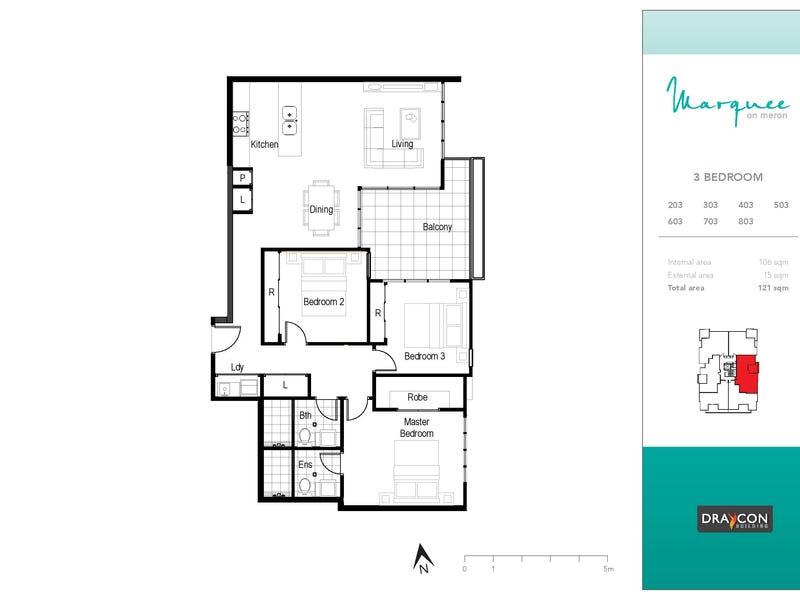 403/8 Meron Street, Southport, Qld 4215 - floorplan
