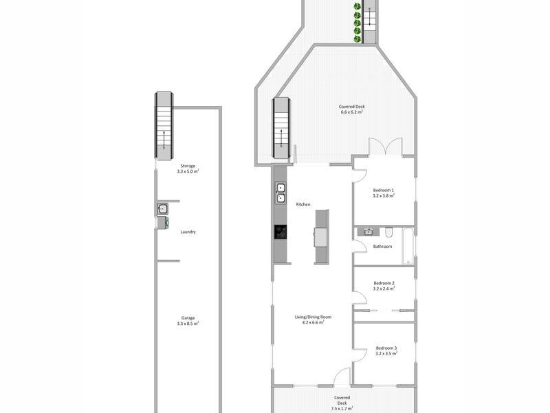 25a Thorn Street, Red Hill, Qld 4059 - floorplan