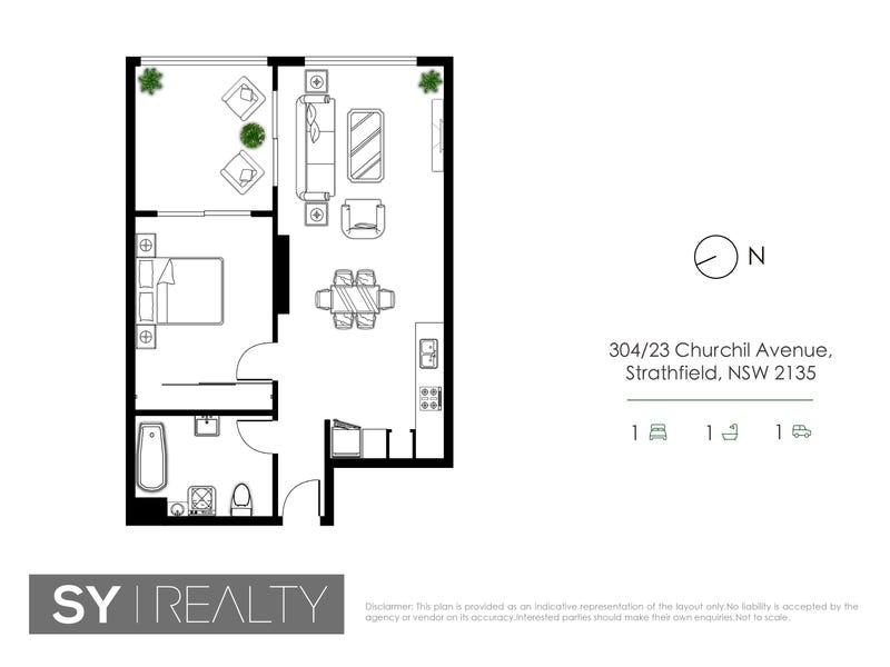 304/23-25 Churchill Ave, Strathfield, NSW 2135 - floorplan