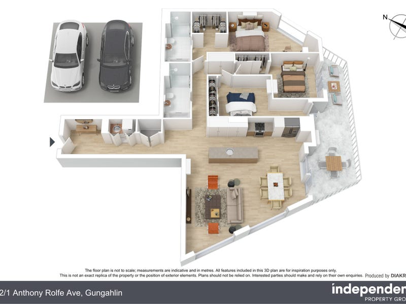 12/1 Anthony Rolfe Avenue, Gungahlin, ACT 2912 - floorplan
