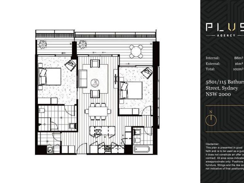 Level 58/115 Bathurst Street, Sydney, NSW 2000 - floorplan