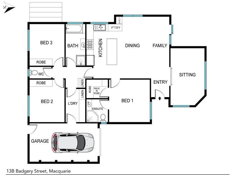 13B Badgery Street, Macquarie, ACT 2614 - floorplan