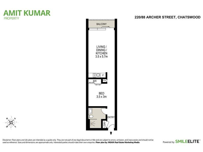 220/88 Archer Street, Chatswood, NSW 2067 - floorplan