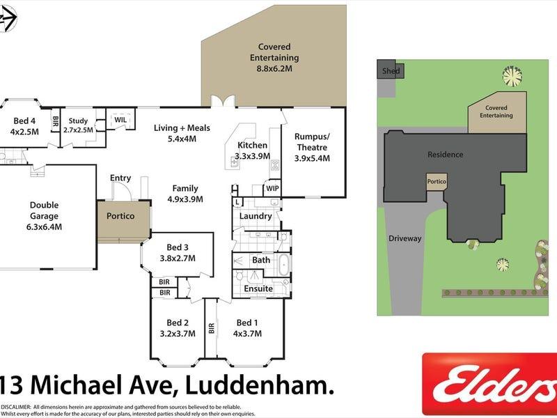 13 MICHAEL AVENUE, Luddenham, NSW 2745 - floorplan