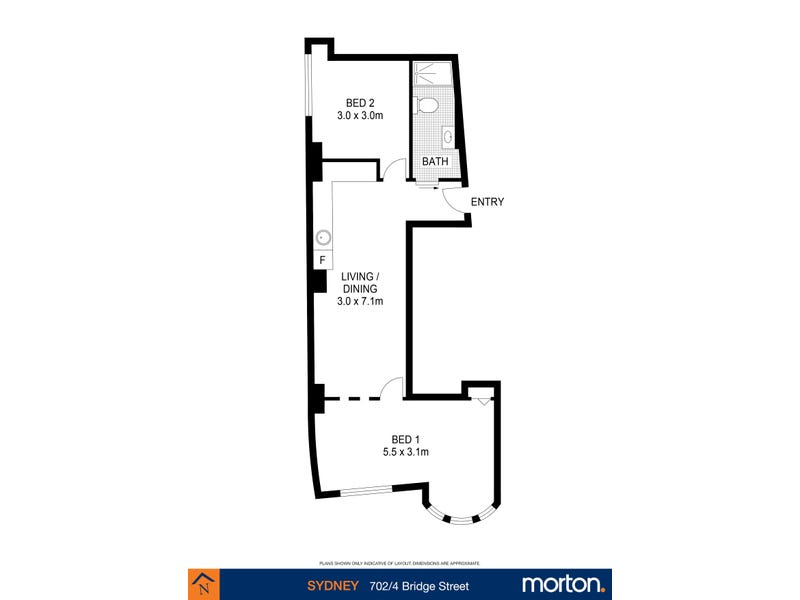702/4 Bridge Street, Sydney, NSW 2000 - floorplan