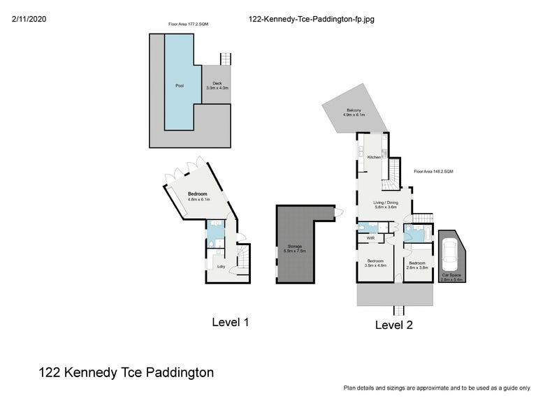 122 Kennedy Terrace, Paddington, Qld 4064 - floorplan