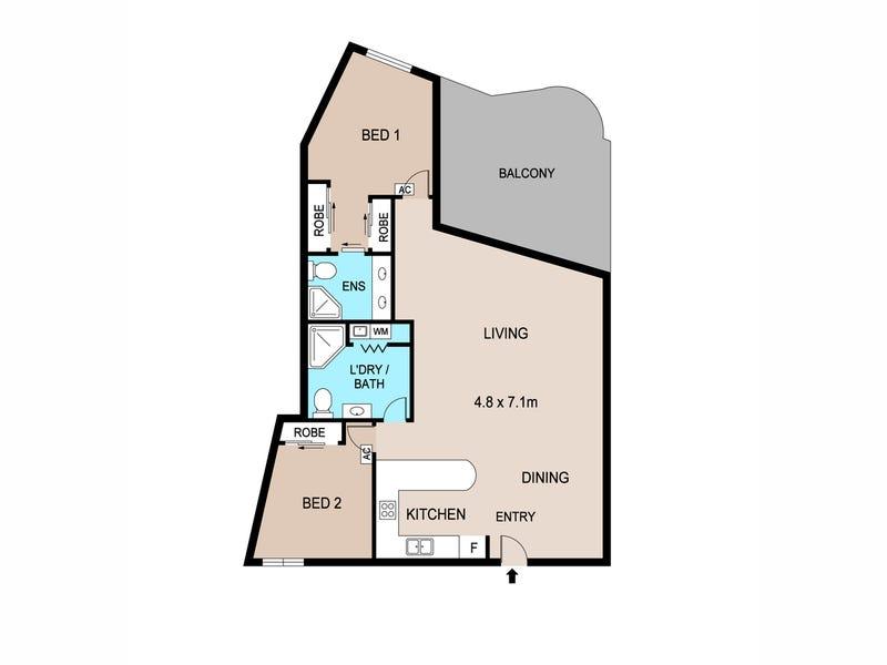 17/6 Marina Boulevard, Larrakeyah, NT 0820 - floorplan