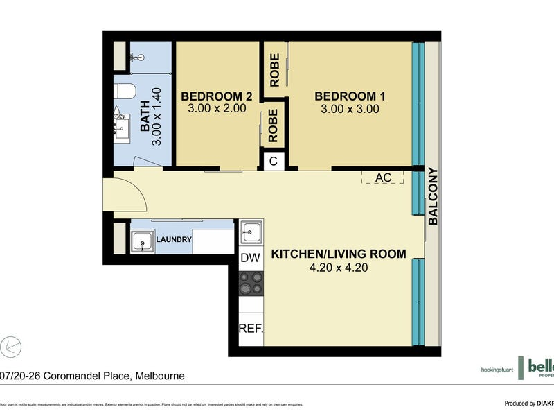 107/20-26 Coromandel Place, Melbourne, Vic 3000 - floorplan