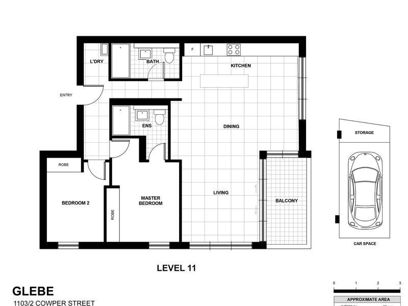 1103/2 Cowper street, Glebe, NSW 2037 - floorplan