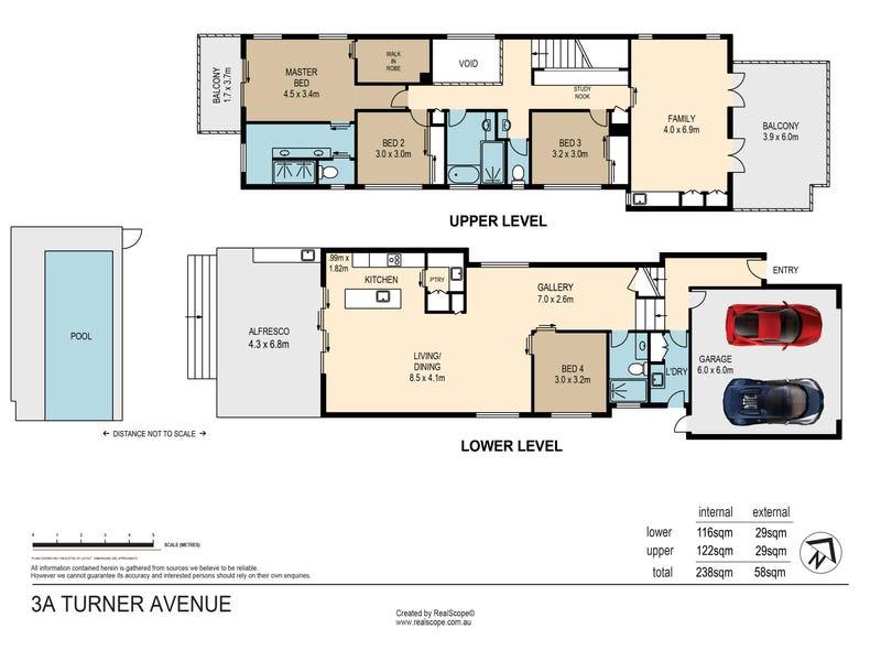 3A Turner Avenue, New Farm, Qld 4005 - floorplan